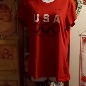 NWOT Nike Fit Dry USA Olympic T-shirt